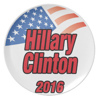 Hillary Clinton for President in 2016 Dinner Plate