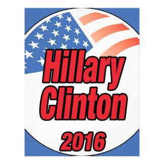 Hillary Clinton for president in 2016 Letterhead