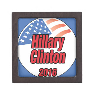 Hillary Clinton for President in 2016 Premium Trinket Box