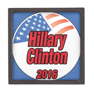 Hillary Clinton for President in 2016 Premium Trinket Boxes