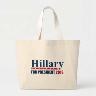 Hillary Clinton For President Large Tote Bag