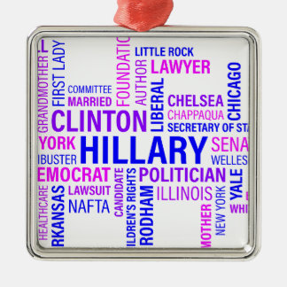 Hillary Clinton for President Metal Ornament