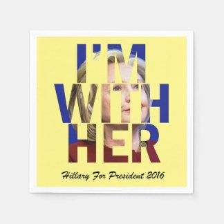 Hillary Clinton For President Napkin