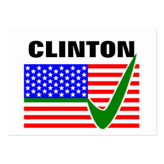Hillary Clinton for President of the United States Large Business Cards (Pack Of 100)