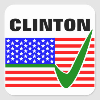 Hillary Clinton for President of the United States Square Sticker