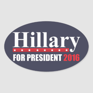Hillary Clinton For President Oval Sticker