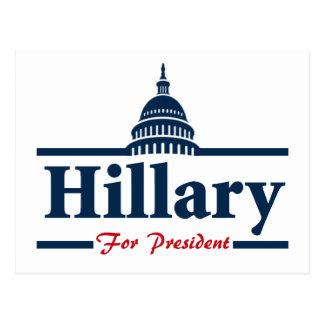 Hillary Clinton For President Postcard