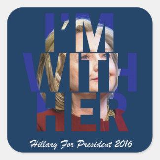 Hillary Clinton For President Square Sticker