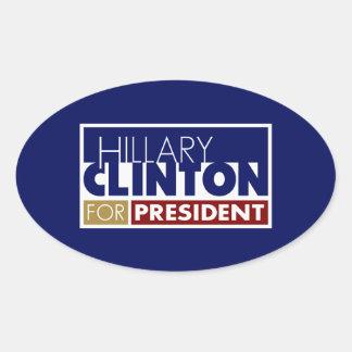 Hillary Clinton for President V1 Oval Sticker