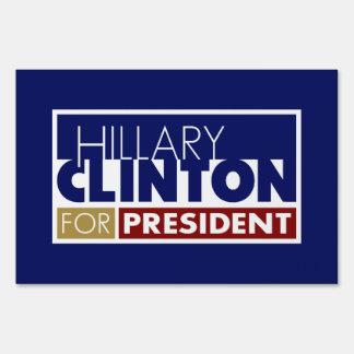 Hillary Clinton for President V1 Yard Signs