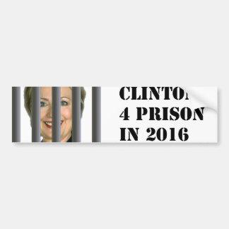Hillary Clinton for Prison 2016 Bumper Sticker Car Bumper Sticker