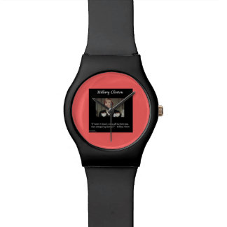 Hillary Clinton Funny Hairstyle Quote Unisex Watch