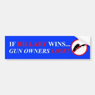 Hillary Clinton Gun Control Bumper Sticker