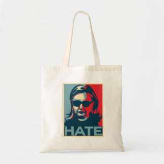Hillary Clinton Hate Obama-style poster Tote Bag