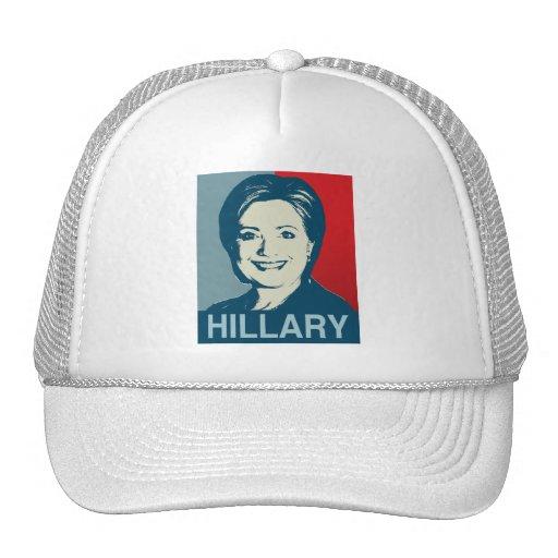 HILLARY CLINTON HOPE -.png Mesh Hats