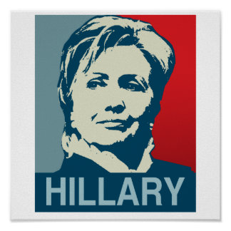 HILLARY CLINTON HOPE-.png Print