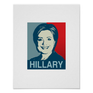 HILLARY CLINTON HOPE -.png Print