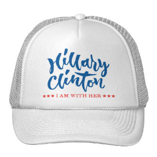 Hillary Clinton - I am with her - Hand Lettering Trucker Hat