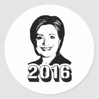 HILLARY CLINTON IN 2016.png Classic Round Sticker