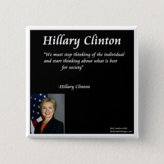 """Hillary Clinton """"Individuals"""" Quote Button"""