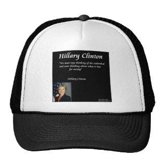 "Hillary Clinton ""Individuals"" Quote Trucker Hats"