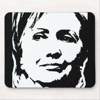 HILLARY CLINTON INK ART MOUSE PAD