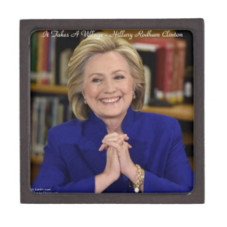Hillary Clinton It Takes A Village Gift Jewelry Box