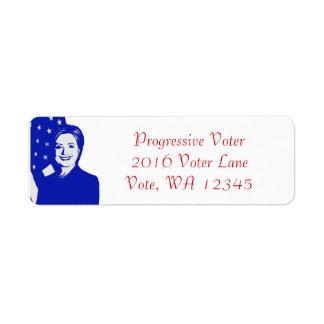Hillary Clinton Return Address Label