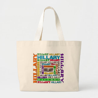 Hillary Clinton Large Tote Bag