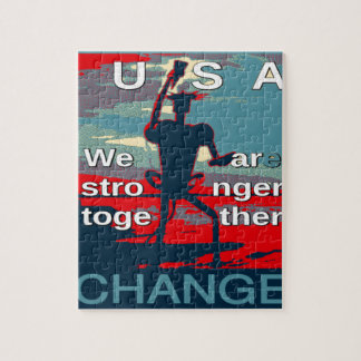 Hillary Clinton latest campaign slogan for 2016 Jigsaw Puzzle