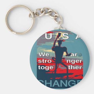 Hillary Clinton latest campaign slogan for 2016 Keychain