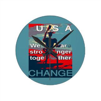 Hillary Clinton latest campaign slogan for 2016 Round Clock