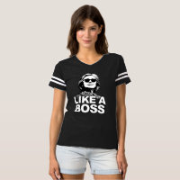 """Hillary Clinton """"Like A Boss"""" V-Neck Shirt"""