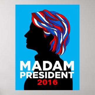 Hillary Clinton Madam President 2016 Poster (L)