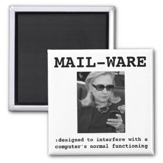 Hillary Clinton: MAIL-WARE 2 Inch Square Magnet