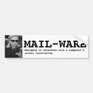 Hillary Clinton: MAIL-WARE Bumper Sticker