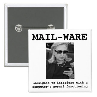 Hillary Clinton: MAIL-WARE Button