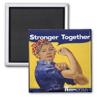 Hillary Clinton más fuerte junto Imán Cuadrado