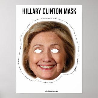 Hillary Clinton Mask Cutout Poster