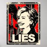 Hillary Clinton: ¡MENTIRAS! Apenado Posters
