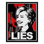 Hillary Clinton: ¡MENTIRAS! Impresiones