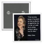 """Hillary Clinton """"mi cita de los padres y de la"""