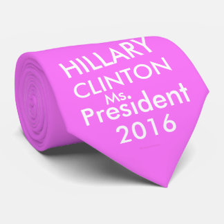 HILLARY CLINTON MS. PRESIDENT 2016 Pink & White Tie