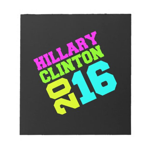 HILLARY CLINTON NEON SWAY.png Note Pads