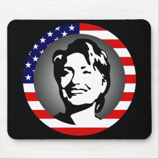 hillary Clinton. nosotros bandera Mousepads