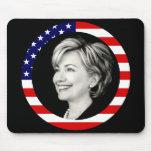 hillary Clinton. nosotros bandera. pintoresco Tapetes De Ratón