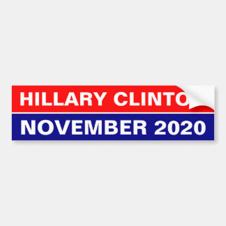 HILLARY CLINTON NOVEMBER 2020 BUMPER STICKER