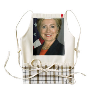 Hillary Clinton Official Portrait Zazzle HEART Apron