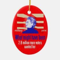 Hillary Clinton I Will Be Back Porcelain Ornament Gift Politician Democrat