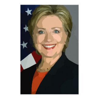 hillary Clinton Papelería Personalizada